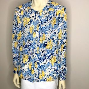 D'Allaird's Long Sleeve Button Down Blouse Size 16
